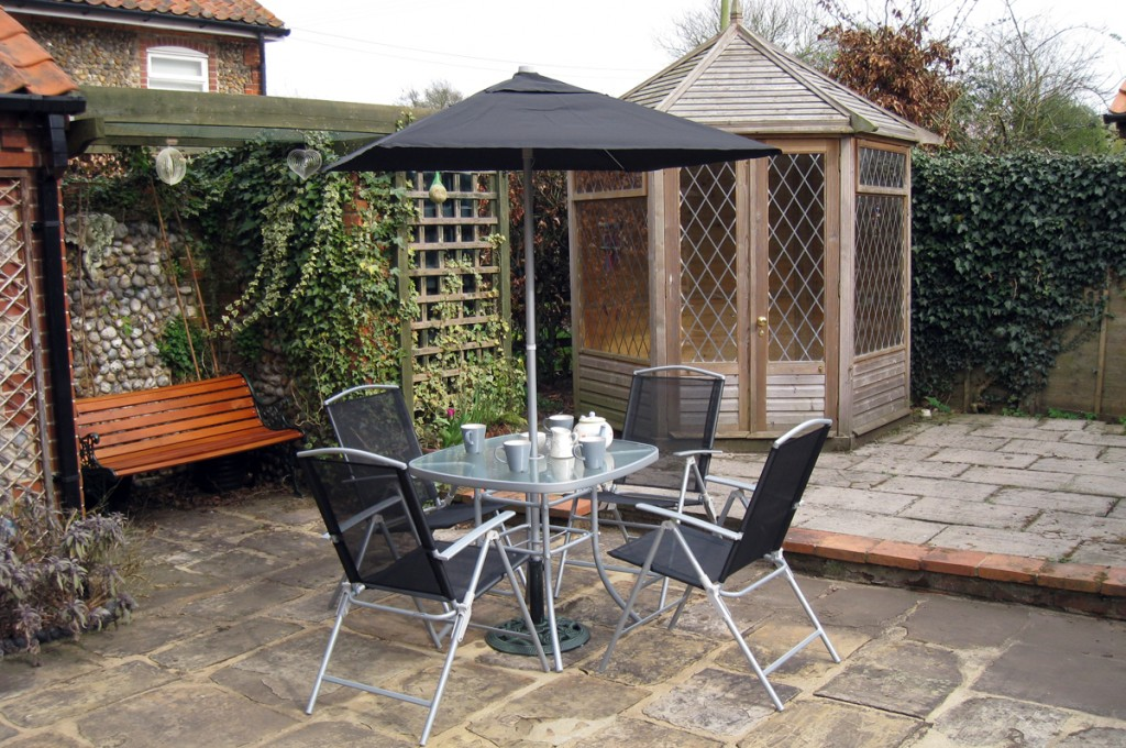 Patio and summerhouse