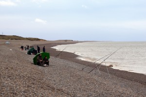 Sea fishing from Weybourne Beach