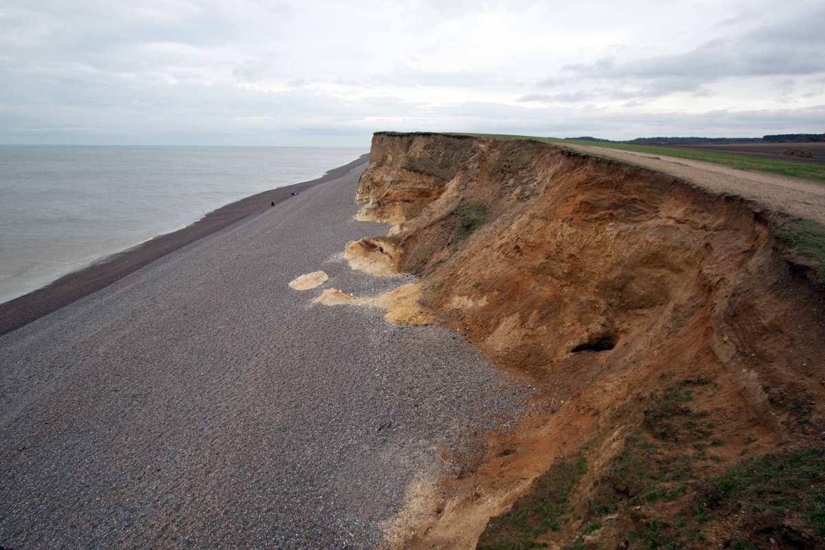 Cliffs at Weybourne Beach