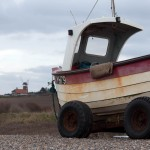 Fishing boat on Weybourne Beach