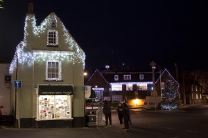 Christmas Lights in Holt Norfolk